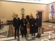 دیدار جمعی از خانواده امام موسی صدر با پاپ در واتیکان
