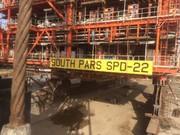 نصب دومین سکوی فازهای ٢٢ تا ٢٤ پارس جنوبی
