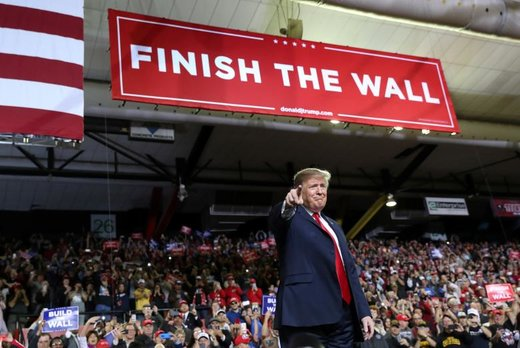 سخنرانی دونالد ترامپ در تبلیغات انتخاباتی در شهر الپاسو ایالت تگزاس آمریکا