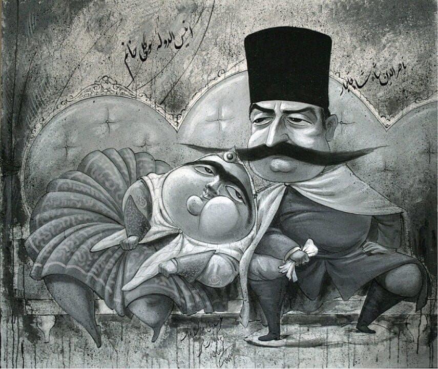 تصویر دیده نشده از ناصرالدین شاه در روز ولنتاین!