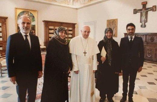 فیلم | گزارش تلویزیون لبنان از دیدار خانواده امام موسی صدر با پاپ