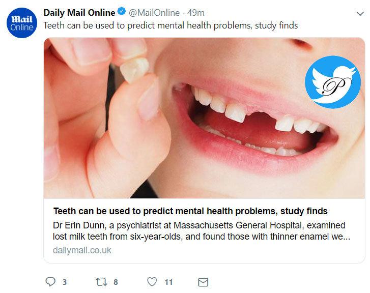 تشخیص اختلالات روانی از روی مینای ضعیف دندان شیری