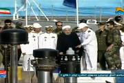 فیلم | رونمایی روحانی از پیشرفتهترین زیردریایی ایران