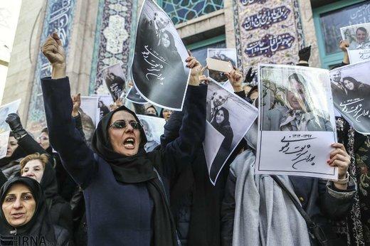 تشییع پیکر پوران شریعت رضوی