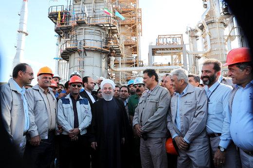 افتتاح و بهره برداری از پروژه کیفیت بنزین و نفت گاز