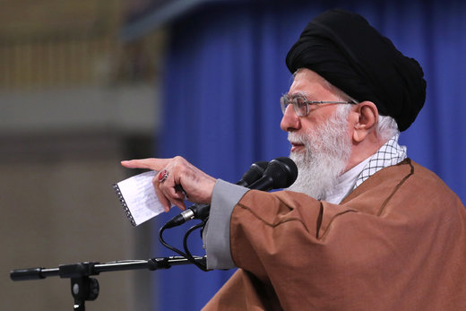 Iran Leader receives religious eulogists
