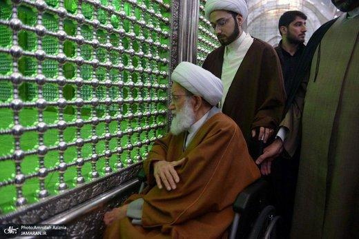 حضور رهبر شیعیان بحرین در حرم امام خمینی (ره)/ عکس