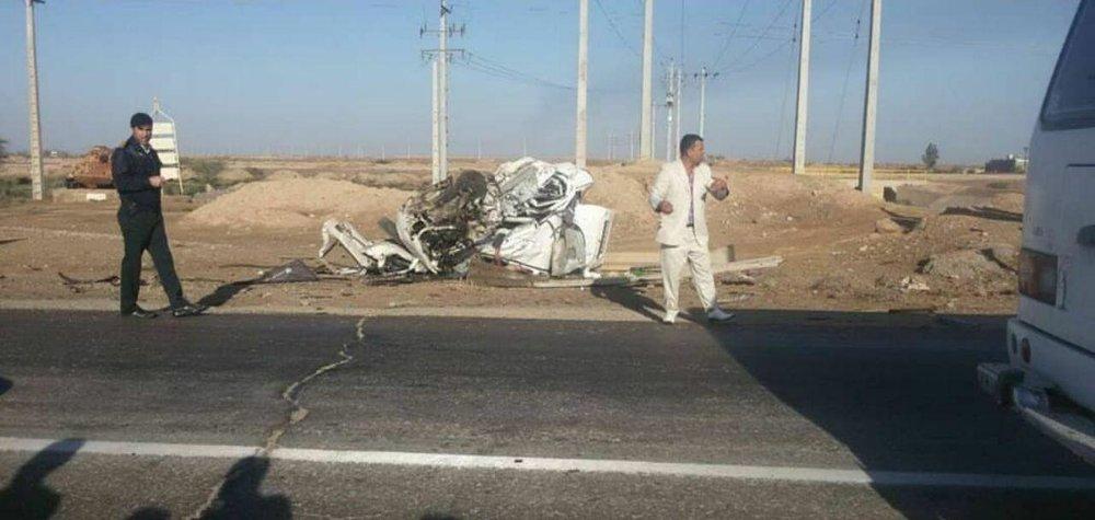 عکس | وضعیت تیبا بعد از تصادف با تریلی
