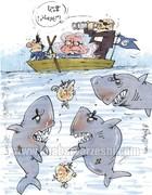 وضعیت قایقی که شفر در آن پارو میزند!