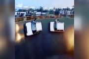 فیلم | رانندگی دیوانهوار روی دیوار مرگ!