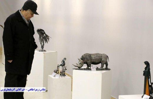 """نمایشگاه مجسمه های دست ساز فلزی """"قصههای فلز"""""""