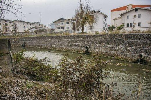 آلودگی رودخانه های گوهر رود و زرجوب رشت