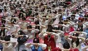 عکسی جالب از دختران کرهای در جشن فارغالتحصیلی