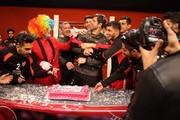 فیلم   جشن تولد کریم باقری در باشگاه پرسپولیس
