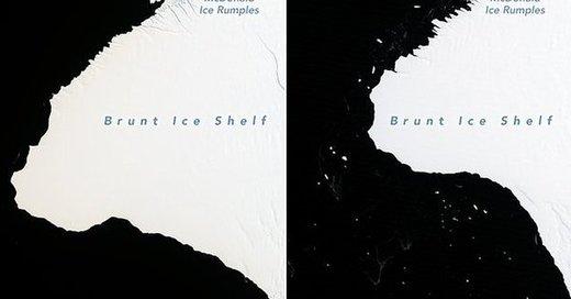 جداشدن یخ ۱۷۰۰ کیلومترمربعی از قطب جنوب