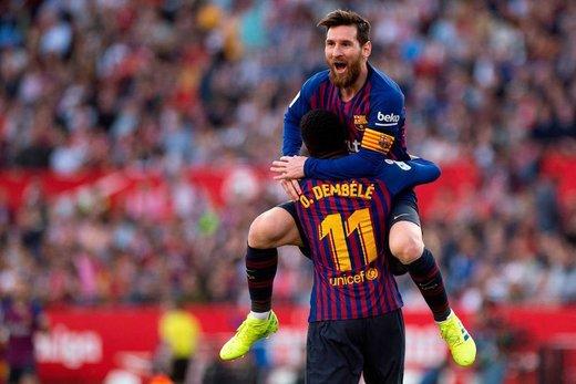 برد باشکوه بارسلونا در شب هتریک مسی