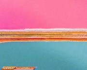 تصاویر | دریاچه نمکی صورتی در یک قدمی دریا!