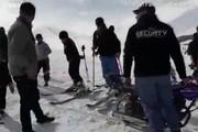 فیلم | موتورسیکلت بجای تلسکی در پیست افغانستان!