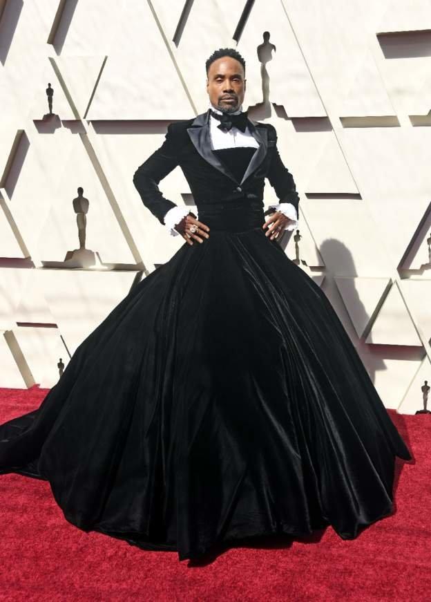 بیلی پورتر با لباس زنانه در مراسم اسکار