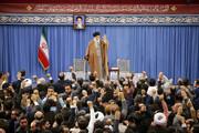 تصاویر | دیدار جمعی از مداحان و ذاکران اهل بیت(ع) با رهبر انقلاب