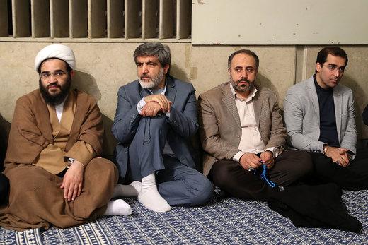 دیدار جمعی از مداحان و ذاکران اهل بیت(ع) با رهبر معظم انقلاب اسلامی