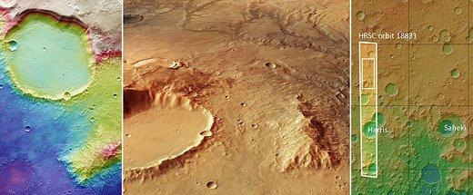 درههای آبی در مریخ/ عکس
