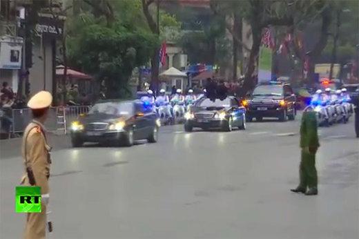 فیلم   اسکورت رهبر کره شمالی در ویتنام