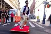 فیلم | علاءالدین در خیابانهای نیویورک دیده شد!