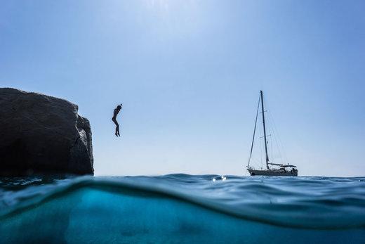 شیرجه شناگر در آب های یونان