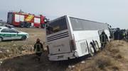 واژگونی مرگبار اتوبوس در اتوبان تهران-قم