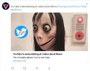 حذف چالش «مومو» از یوتیوب