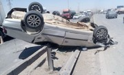 واژگونی پژو پارس در جاده اهواز-شوش ۲ کشته بر جا گذاشت