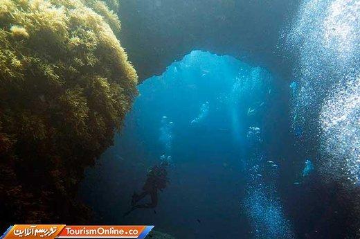سوراخ آبی جزیره غودش دریای مدیترانه