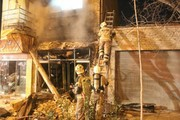 تصاویر | انفجار قلیانفروشی در خیابان ولیعصر