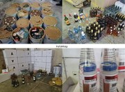 عکس | کشف محموله قاچاق مشروبات الکلی در گمرک نخل تقی