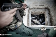 تصاویر | توقیف کشتی با ۷۰۰ تن ماهی غیرقانونی در آبهای جنوب