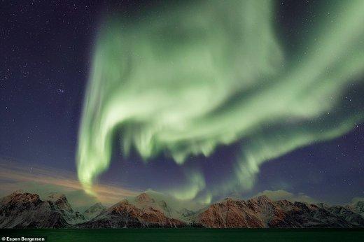 نورهای شفق قطبی در آسمان نروژ