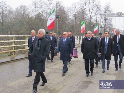 ورود وزیر حملونقل و مدیرعامل راهآهن جمهوری آذربایجان به ایران