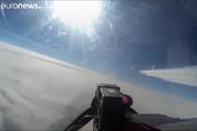 فیلم | سوخوی روس هواپیمای جاسوسی آمریکا را فراری داد