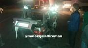 تصاویر | تصادف ۲ پراید با پرشیا در جاده ورامین