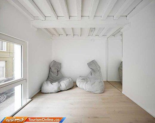 خانه سفید رنگ در بلژیک
