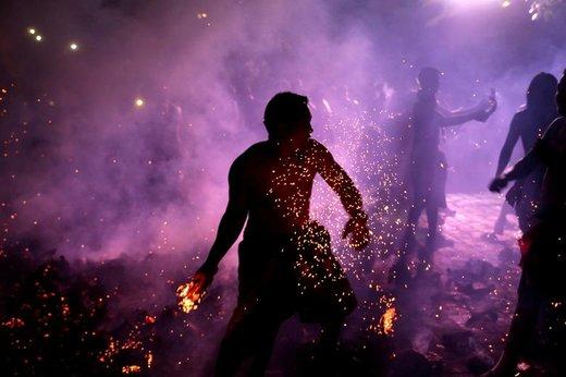 جشن سال نوی هندو، در جزیره بالی اندونزی