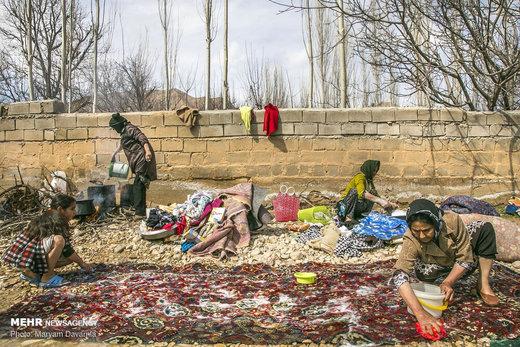 قالیشویی سنتی در روستاهای بجنورد