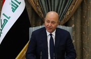 Iraqi President: Palestine affair central issue in Middle East