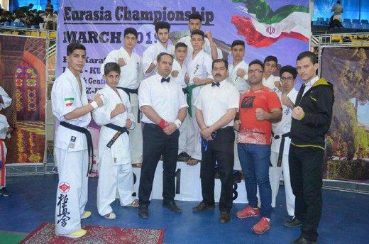 ۱۶ مدال اورآسیایی بر گردن کاراته کاهای استان چهارمحال وبختیاری