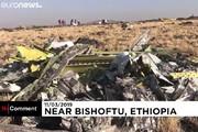 فیلم | بقایای بوئینگ ۷۳۷ سقوط کرده اتیوپی