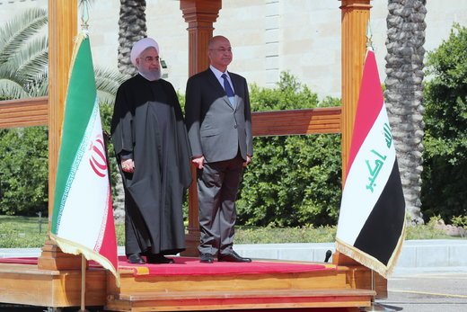 President Rouhani officially welcomed in Baghdad