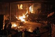 تصاویر | آتشسوزی مرگبار در کارخانه چسب