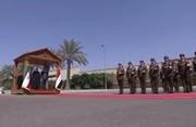 فیلم | استقبال از روحانی در کاخ قدیمی صدام!