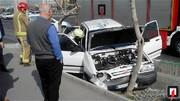عکس | وضعیت پراید بعد از تصادف با درخت!